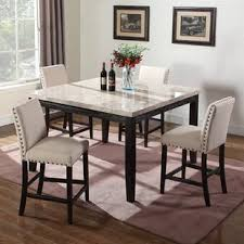 marble dining room table and chairs marble kitchen dining tables you ll love wayfair