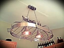 kitchen pot racks with lights outstanding kitchen pot rack light with ceiling pendant fixture