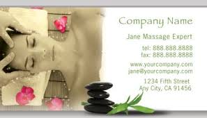 Massage Business Cards Examples Health U0026 Beauty Business Card Designs