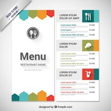 drink menu template free colorful menu template vector free