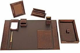 Modern Desk Sets Wonderful Desk Sets Leather Hungrylikekevin Within Set Ordinary