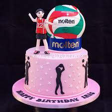 celebration cakes volley ball player theme birthday cake