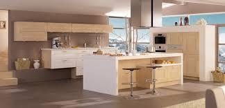 cuisine bois et blanc laqué facade cuisine blanc laque luxe décoration cuisine bois et blanc