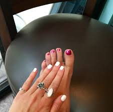 white nails pink toes quality manicures and pedicures yelp