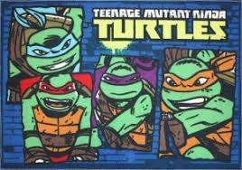 Superhero Rug Ninja Turtle Kids Room Awesomeness Groovy Kids Gear