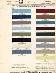 1967 ford mustang color chart with paint mixing codes maine mustang