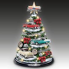 bradford exchange home decor amazon com chevrolet bel air tabletop christmas tree with revving