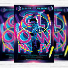 glow party glow party premium flyer template cover