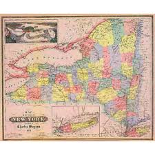 Map Of New York State by 1854 Map Of New York State