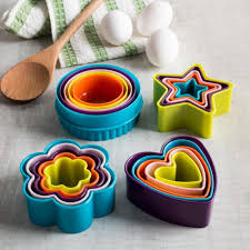 ksp bakers assorted cookie cutter set of 5 multi colour
