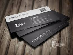 Business Card Layout Psd Black And White Business Card Template Psd File Free Download