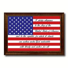 the pledge of allegiance american usa flag patriotic office wall