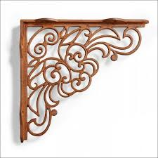 furniture fabulous black wrought iron brackets 12 decorative