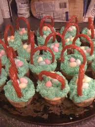 Easter Cupcake Decorating Ideas Pinterest by 16 Best Easter Basket Cupcakes Images On Pinterest Easter