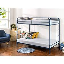 Amazoncom Walker Edison TwinOverTwin Metal Bunk Bed Black - Navy bunk beds