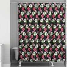 Red Black Shower Curtain Black And Pink Shower Curtain Pink Black White Design Shower