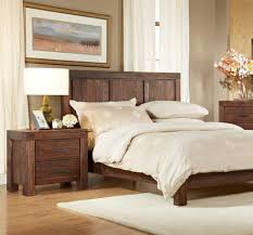 modus meadow 2 piece solid wood platform bedroom set in brick