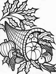 thanksgiving cornacopia free coloring pages thanksgiving cornucopia coloring pages for