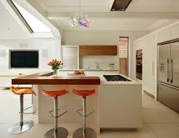 raised kitchen island raised bar height peninsula kitchen contemporary with bespoke