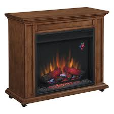 duraflame oak infrared rolling electric fireplace 23irm1500 o107