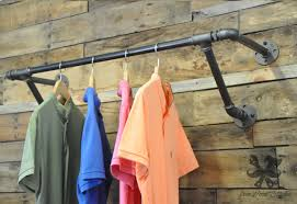 Galvanized Pipe Clothes Rack Super Simple Clothes Rail Designs That You Can Make By Yourself