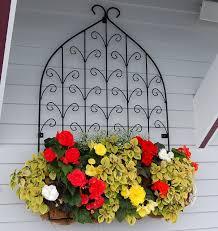 Small Trellis Planter Window Box And Wall Planter Photo Gallery