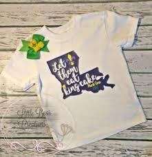 mardi gras baby clothes let them eat cake mardi gras shirt and free matching bow mardi gras