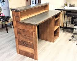 Reclaimed Wood Reception Desk Reception Desk Etsy