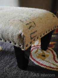 burlap bags for sale burlap sack ottoman using 5 garage sale ottoman coffee