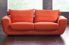 Modern Sofa And Loveseat Modern Orange Sectional Entrancing Orange Leather Sofa Home