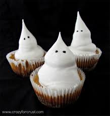 Halloween Cupcakes Ghost Ghost Food Recipes Ghost Themed Desserts