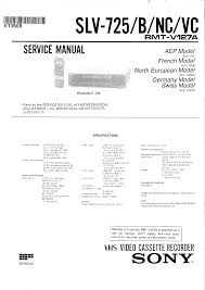 sony slv725 service manual immediate download