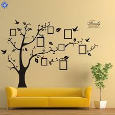 extra large 180 250 125 155 black photo frame tree wall sticker extra large 180 250 125 155 black photo frame tree wall sticker home decorations family wall decals adesivo de parede mural in wall stickers from home