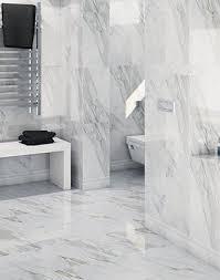 White Tiles For Bathroom Walls - marble effect bathroom tiles