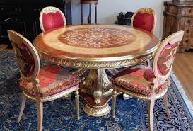 luxury handmade furniture empire style round dining table