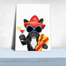 Modern Art Wohnzimmer Nette Hund Leinwand Art Wand Druck Poster Hintergrund Modernen