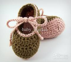 cheap crochet baby booties baby plain wool shoes 0 24m