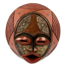wall masks novica victor dushie handcrafted circular west mask wall