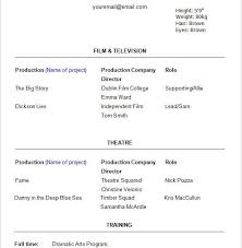 Actor Resume Template Word Begginers Acting Resume Word Free Download Acting Resume Template