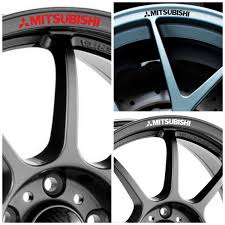 mitsubishi sticker x8 mitsubishi logo rims alloy wheel decals stickers graphics