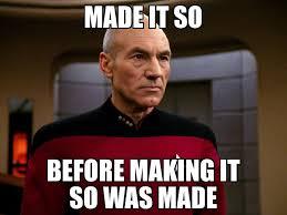 Meme Picard - startrek startrekthenextgeneration startrektng picard makeitso