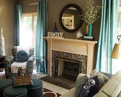 Furniture Contemporary Teal Living Room Accessories Like Curtains - Teal living room decorating ideas