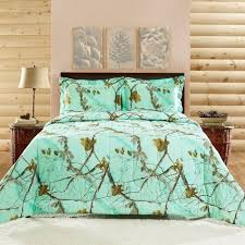 Camo Duvet Covers Realtree Mint Camo Comforter Set Shopko