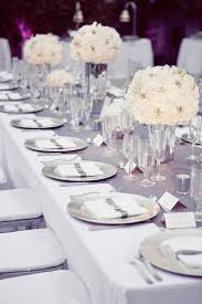 and silver wedding friday finds tablescapes centerpieces table settings and white