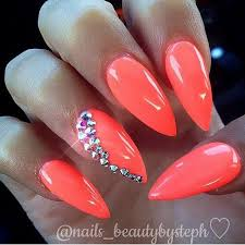 25 best neon coral nails ideas on pinterest coral nail designs