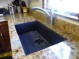 undermount stainless steel kitchen sink black porcelain bathroom