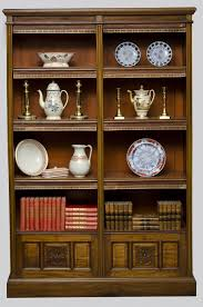 antique victorian walnut open bookcase english walnut bookcases