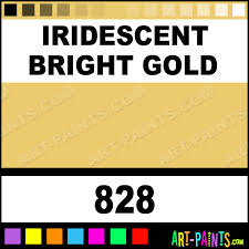 iridescent bright gold classic acrylic paints 828 iridescent
