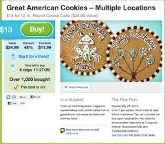 Great American Cookie Company 50 Off 12 Inch Cookie Cake Via