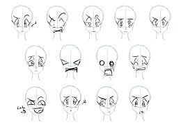 drawing manga face reaction google search sketch face reaction